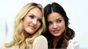 Cute Pose Of Miranda Kerr N Candice Swanepoel At Victoria&#8217;s Secret SWIM Collection